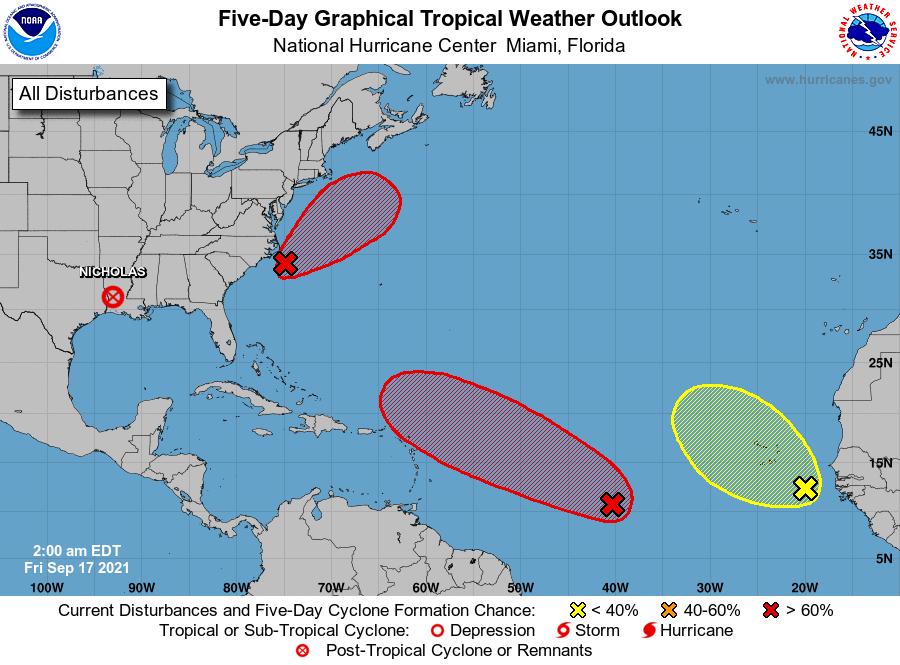 National hurricane center September 17 2021