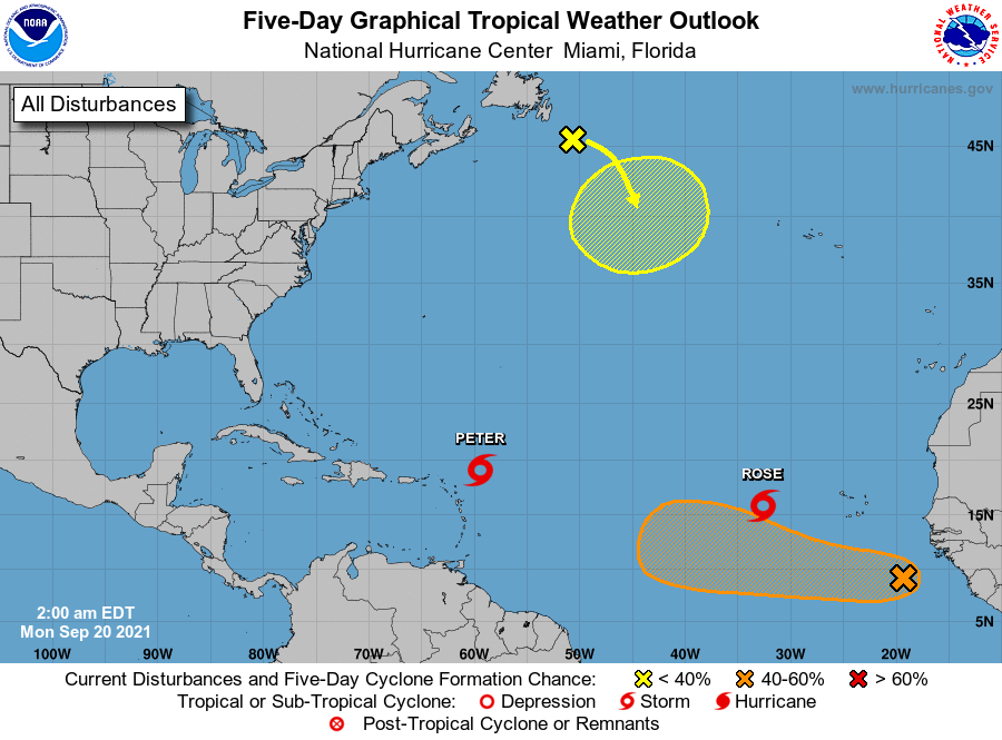 National hurricane center Monday September 20 2021
