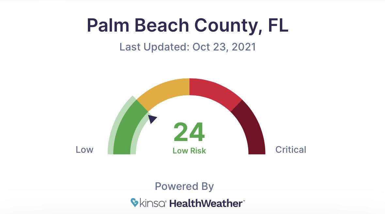 Palm beach county covid-19 kinsa