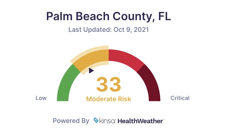 KINSA Covid-19 Palm Beach County