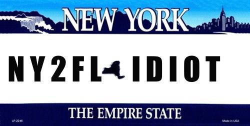 ny plate idiot